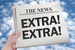 News Extra Royalty Free Stock Images