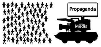 News fake propaganda, mass media deception, government lies. News fake propaganda, mass media deception, government lies vector illustration