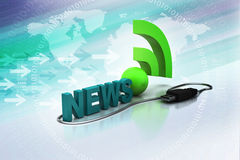 News feed sign Royalty Free Stock Photos