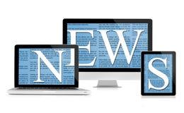 News feed sur des dispositifs illustration de vecteur