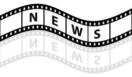 News film strip Royalty Free Stock Image