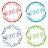News flash badge isolated on white background. Flat style round label with text. Circular emblem vector illustration Royalty Free Stock Photos