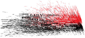 News font splash Royalty Free Stock Images