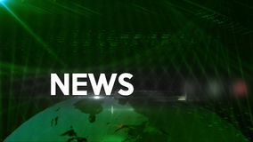 News generic background Green 4K stock video