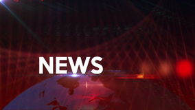 News generic background Red 4K stock video footage