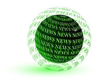 News globe Stock Photography