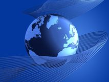 News globe Royalty Free Stock Images