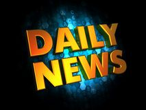 Daily News - Gold 3D Words. Stock Image