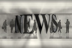 News graphic Stock Image