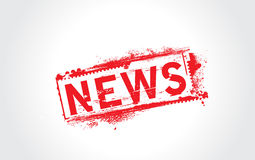 News grunge text. With halftone Royalty Free Stock Photo
