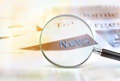 News Headline Stock Photography