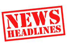 NEWS HEADLINES Rubber Stamp Stock Photography