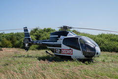 News helicopter Stock Image