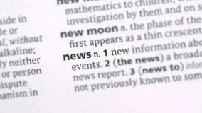 News highlighted in green stock footage
