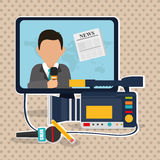 News icon design Stock Image