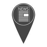 News icon map pointer. On white background Stock Photos