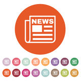 The news icon. Newspaper symbol. Flat Royalty Free Stock Photo