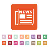 The news icon. Newspaper symbol. Flat Stock Photos