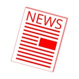 News icon red. Vector icon Stock Photo