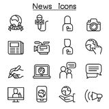 News icon set in thin line style. Vector illustration graphic design Stock Photography