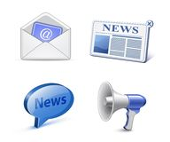 News icon set Stock Photos