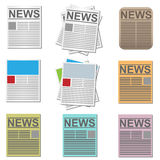 News icons Stock Images