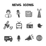 News Icons Royalty Free Stock Photo