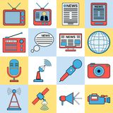 News icons collection Stock Photography
