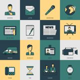 News icons flat line Stock Photo
