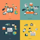 News icons flat Royalty Free Stock Images