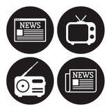 News icons set Stock Photos