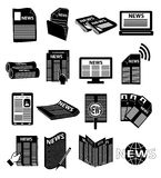 News icons set Stock Image