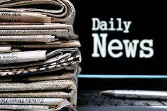 Daily News Info Stock Photo