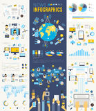 News Infographic set with charts and other elements. Royalty Free Stock Photo