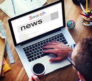 News Information Announcement Broadcast Media Concept Stock Image