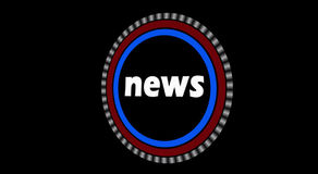 News Intro Animation stock footage