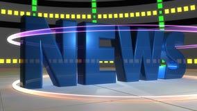 News intro. 3d design of Futuristic News intro Stock Image