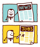 News & jobs Stock Image