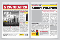 News Journal Spread Template Royalty Free Stock Photos