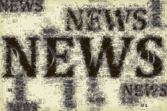 News and journalism, conceptual illustration Royalty Free Stock Photography