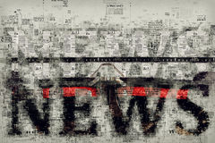 News and journalism, conceptual illustration Royalty Free Stock Photos