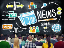 News Journalism Information Publication Update Media Advertismen Royalty Free Stock Photography