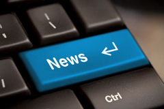 News key Royalty Free Stock Images