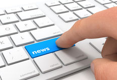 News keyboard concept 3d illustration Royalty Free Stock Images