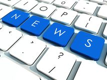 News  keys Stock Photography