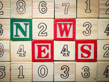 News about kids. Early childhood education Royalty Free Stock Photo