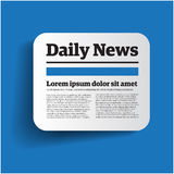 Daily news label royalty free illustration