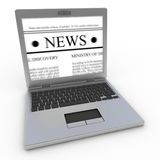 News on laptop Royalty Free Stock Images