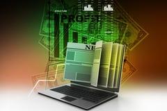 News through a laptop screen concept for online news Stock Photography
