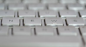 News Laptop Royalty Free Stock Photography